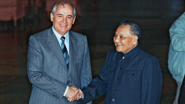 Mikhail Gorbachev and Deng Xiaoping in 1989